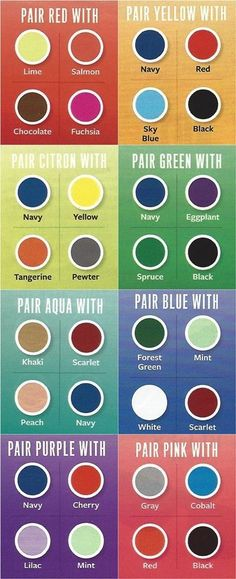 fashioninfographics:  A cheat sheet to color pairing