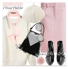 """""""I Wear Pink for...2"""" by paculi ❤ liked on Polyvore featuring River Island and IWearPinkFor"""