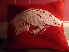 Hog pillow #Razorbacks