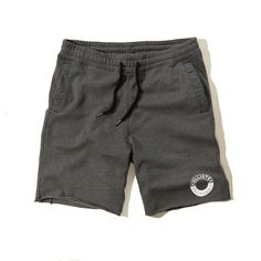 Hollister Mens Fleece Sweat Jogger Shorts Dark Gray
