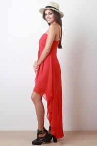 Flared Chiffon Dress #urbanog