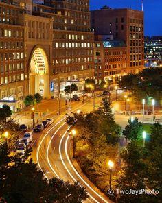 Boston Harbor Hotel at Night Photograph