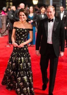 Kate Middleton sorprendió con un osado diseño de Alexander McQueen en la alfombra roja de los BAFTA
