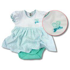 #Body #Kleid für echte #Baby Ladies!  Ein feines Outfit für Ihre kleine #Prinzessin! Ihr kleines Sonnenschein wird entzückend aussehen. Oben ein feines Somerkleidchen, unten ein praktischer Body. Gr. 56-80
