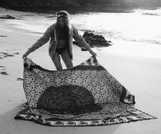 bohemian beach blanket. yum.
