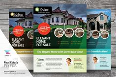 Real Estate Flyer Templates by kinzi21 on @creativemarket