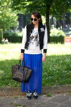 #skirt #celine #newbalance #varsity