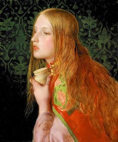 Святая Мария Магдалина. Художник-прерафаэлит Anthony Frederick Augustus Sandys (England, 1829-1904)