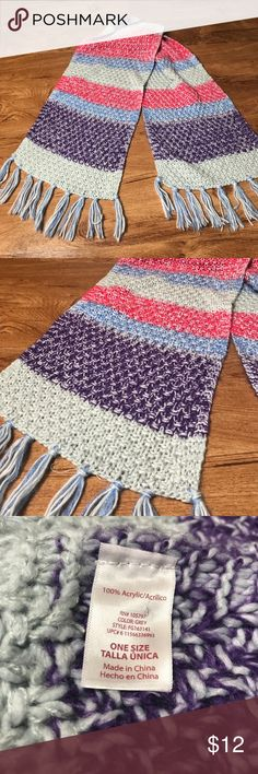 Pink Purple Grey Long Scarf Acrylic Soft Very cute and soft scarf!  Flawless! Accessories Scarves & Wraps
