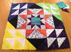 """http://quiltville.blogspot.ca/ Bonnie's """"Wanderlust"""" quilt block to purchase her pdf pattern go to her website it has a free runner pattern too with the purchase."""