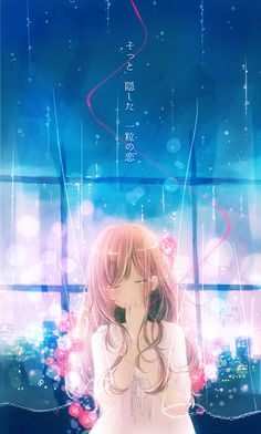 """花芽宮るる on Twitter: """"【#今日絵】♪...止まない雨に花束を nagi feat. nayuta http://t.co/NEO3xpoIw7"""""""