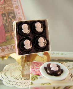 Dollhouse cameo cakes by goddess of chocolate, via Flickr