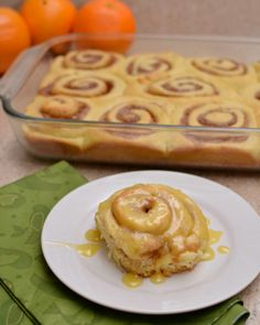 These orange sweet rolls are absolutely divine. And they make a perfect breakfast or dessert. #lmldfood