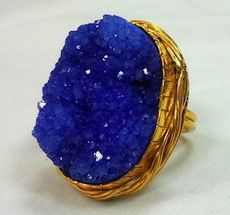 My fav druzy ring ever. The colour is more vibrant than the photo! Plus that rich royal blue looks phenomenal on my tanned skin ;)