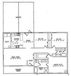 The o 39 jays garage and journals on pinterest for Metal garage with living quarters floor plans