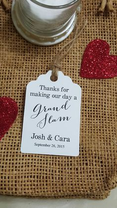 Personalized Favor Tags 2 1/2'' Wedding tags by beautifullshop