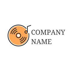 Black Sound Wave and Orange CD logo design