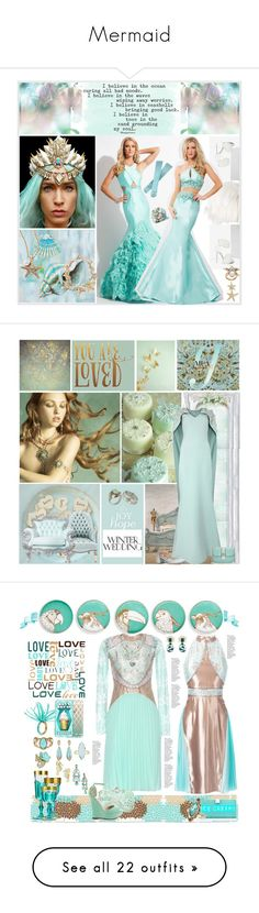 """""""Mermaid"""" by yours-styling-best-friend ❤ liked on Polyvore featuring Oscar de la Renta, Jeffrey Campbell, Rachel Allan, Yosemite Home Décor, Valentino, Nak Armstrong, Safiyaa, Shades of Grey by Micah Cohen, Bodas and Old Hickory Tannery"""