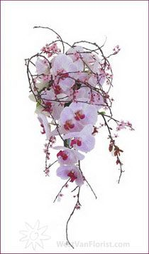 Cherry Blossom and Orchid Bouquet from west van florist
