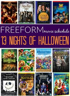 Freeform 13 Nights of Halloween 2016 Movie Schedule - A spooktacular line up of movies starting Wednesday, October 19, running until Monday, October 31st. You might remember this from ABC Family. Complete list on Frugal Coupon Living.