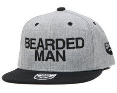 Bearded Man - Official Grey/Black Snapback