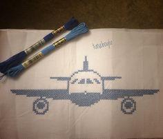 Uçuşa hazır mısınız ✈️ Cross stitch kanaviçe uçak