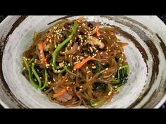 JAPCHAE - Korean Stir Fry Glass Noodle - YouTube