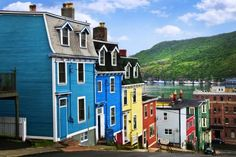 """See 10 of the world's most colorful cities: in pictures.  """"Jellybean Row"""", St. John's, Newfoundland, Canada"""