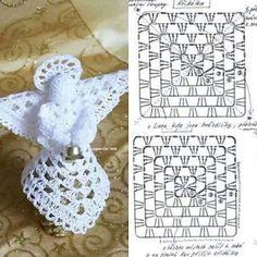 Crochet Angel Free Patterns &a Crochet Diy, Crochet Hat Tutorial, Crochet Angel Pattern, Crochet Angels, Crochet Motifs, Thread Crochet, Crochet Crafts, Crochet Doilies, Crochet Projects