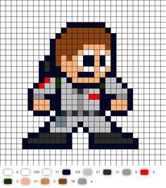 Ray Ghostbusters Perler Bead Pattern