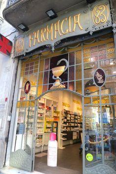 An old pharmacy in Barcelona