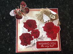 Card made by Michelle Benson, using 'A Pocket Full of Paper' from Craftwork Cards.