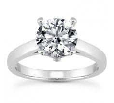 Trellis Design Solitaire Diamond Engagement Ring with Surprise Diamond Accent