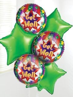 Interflora Get Well Balloon Bouquet C02441ZFI Send your get well wishes with our Get Well Soon Balloon Bouquet.Including three green star-shaped balloons and three cheerful Get Well Soon balloons, this helium balloon bouquet is sure to brighten t http://www.MightGet.com/january-2017-12/interflora-get-well-balloon-bouquet-c02441zfi.asp