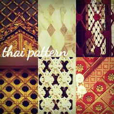 Patterns found in most Thai architecture. Thai Thai, Thai Art, Thai Pattern, Thai Design, Thai Style, Animal Print Rug, Asia, Advertising, Indian
