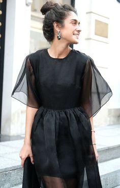Коктейльное платье-миди из полупрозрачной органзы TOP20 Studio / 2000000250306-3
