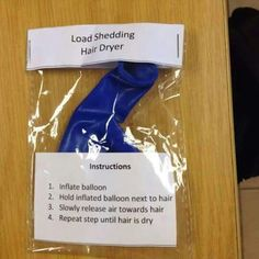 Eskom Load Shedding hair dryer for all South Africans!