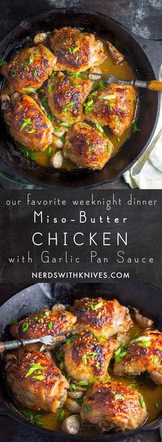 Miso-Butter Chicken With Garlic Pan Sauce