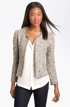 I've always been a fan of tweed. Cute #tweed Tory Burch jacket.