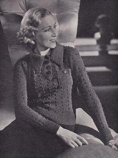 Bobble Jumper Free Vintage Knitting Pattern