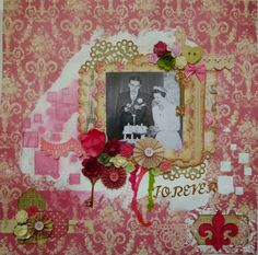 Life in a snapshot: Forever mixed media layout