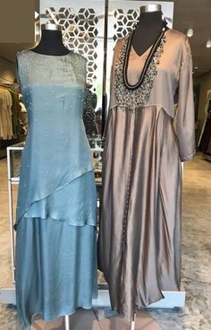 Silk dresses #indowestern