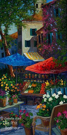 Outdoor Wall Art, Outdoor Walls, Art Mural En Plein Air, Beautiful Home Gardens, Art Gallery, Galerie D'art, Z Arts, Naive Art, Canadian Artists