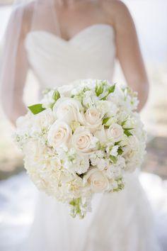 My gorgeous white bridal bouquet