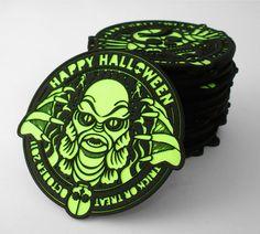 Laser-Cut Halloween Coasters 2011 by Brennan Gilbert, via Behance