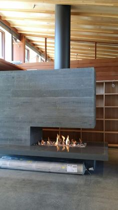 Custom Build 3-Sided Isokern Fireplace                                                                                                                                                     More