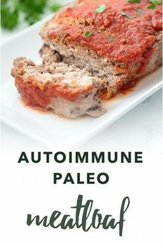 Meatloaf, the ultimate hearty comfort food, gets a makeover. This Autoimmune Paleo Meatloaf recipe uses nightshade free seasonings and an optional tomato-free sauce. Autoimmune Paleo Protocol (AIP) recipes are gluten-free, dairy-free, egg-free, nut-free, seed-free, and nightshade-free to promote recovery from autoimmune diseases. #aip #autoimmunepaleo #glutenfree #dairyfree #nutfree #nightshadefree #eggfree #healthy #paleodiet #paleorecipe