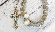 $67.75 Aurora Borealis Traditional Catholic Rosary by BlueWorldTreasures.Etsy.com Use #discountcode PIN10 for 10% off in my shop