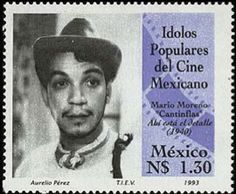Mario Moreno Cantinflas Mexican Artists, Mexican Folk Art, Vintage Cafe, Mexican American, Popular Art, My Heritage, Mario, Stamp Collecting, Mail Art