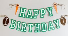 Football birthday party decorations designed and crafted by Declan & Smith Party Décor. #footballdecorations #footballbirthdayparty Baseball First Birthday, Football Birthday, First Birthday Photos, Sports Birthday, Baseball Party Decorations, First Birthday Party Decorations, First Birthday Parties, Birthday Photo Banner, Happy Birthday Banners